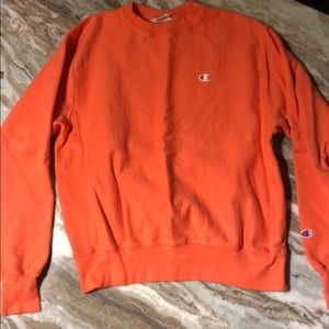 Coral Reverse Weave Champion pullover